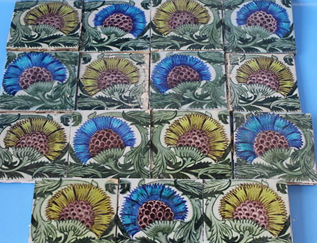 Rare Arts & Crafts tiles fetch £1,300 at Midlands auction house