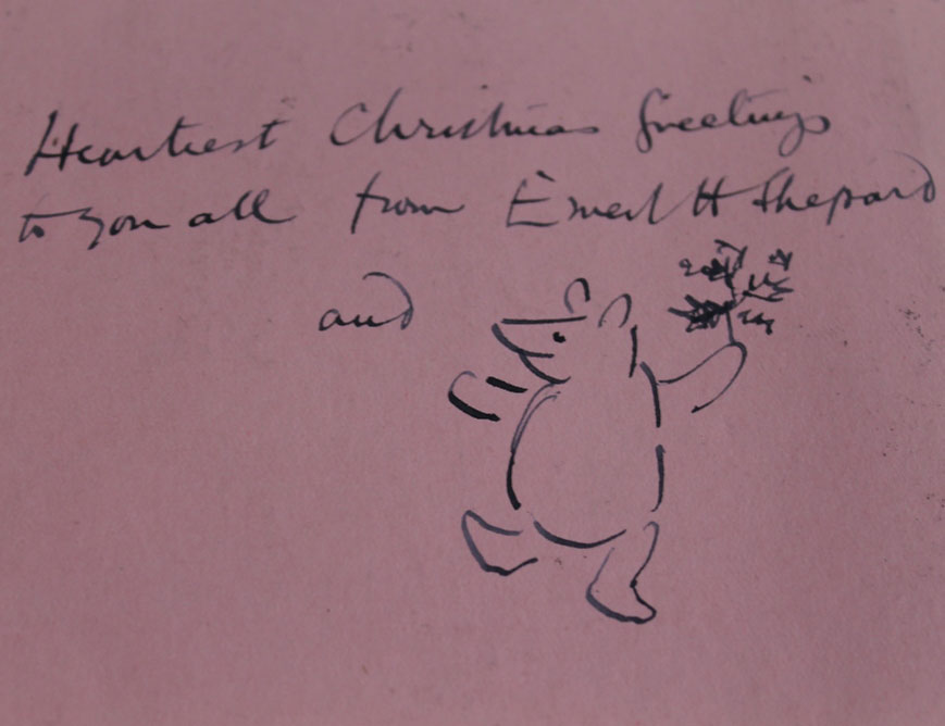 Signed & illustrated Christmas card from Winnie to Pooh author to birth control pioneer Marie Stopes among collection to sell on Friday 7th Dec…