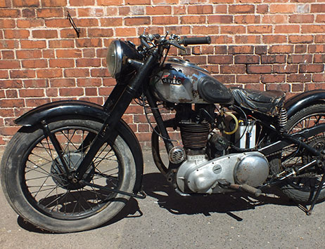 Vintage motorcycle zooms off at the latest Specialist sale
