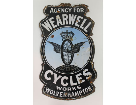 Vintage Wearwell Cycles ad sign the pick of interesting local lots at forthcoming auction