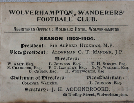 Rare vintage Wolverhampton Wanderers tickets set to be star of May auction