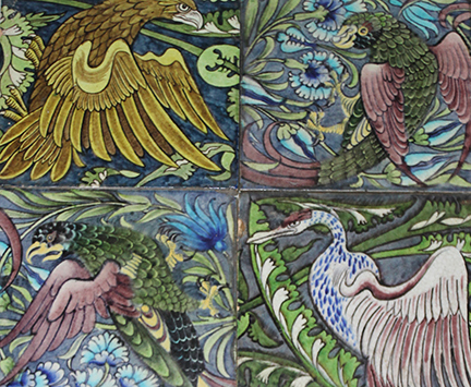 Five figures for five William de Morgan tiles in our Fine Art & Antique Auction