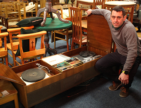 Vintage record players and vinyl are 'top of the pops' at Staffordshire auction