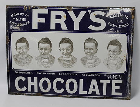 Vintage advertising sign with Stourbridge links to some under hammer in Wolverhampton